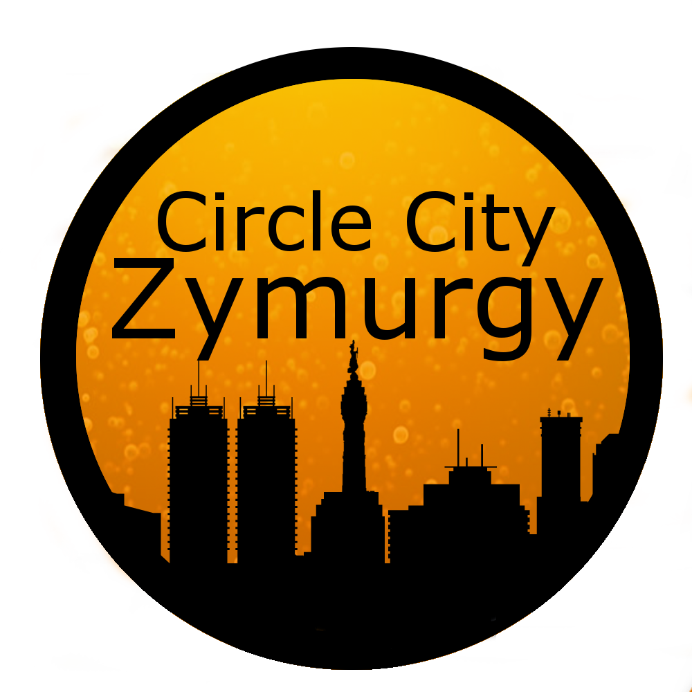 Circle City Zymurgy - Indianapolis Skyline - Beer Background
